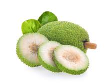 Breadfruit Isolated On White B...
