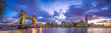 Tower Bridge  Panorama At Blue...