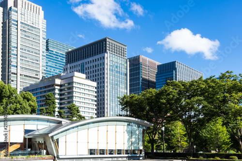 Photo  (東京都ー都市風景)和田倉噴水公園から見る丸の内ビル群2