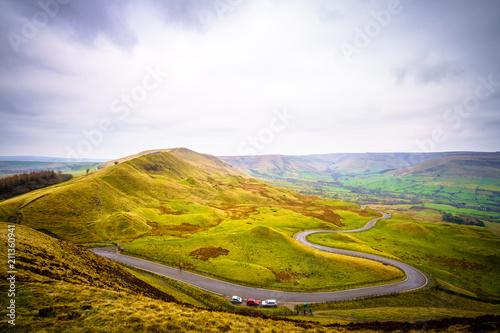Printed kitchen splashbacks Beige Scenic Serpentine Road in Peak District UK