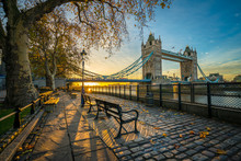 Tower Bridge At Sunrise In Aut...