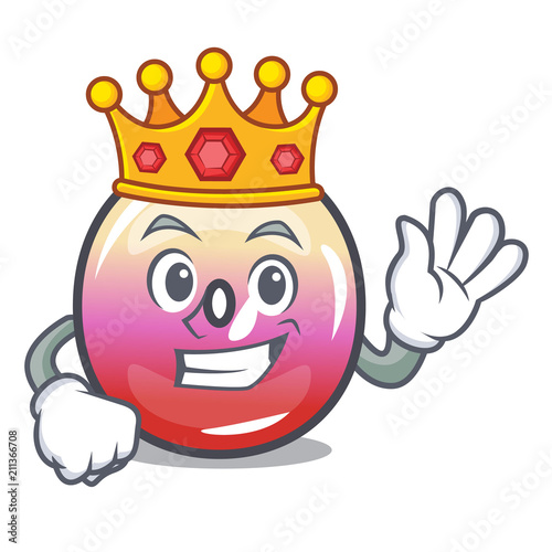 Fotografie, Tablou  King jelly ring candy mascot cartoon