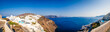 Panorama of Oia in Santorini, Greece