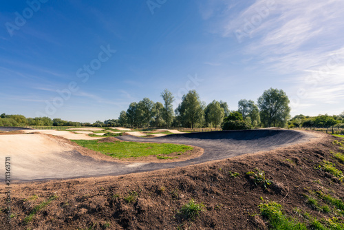 Cycling and bmx track Canvas Print