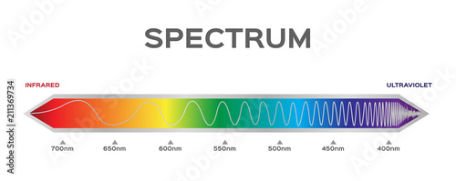 Fotomural infographic of Visible spectrum color. sunlight color