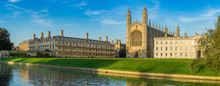Panorama Of College In Cambridge, UK