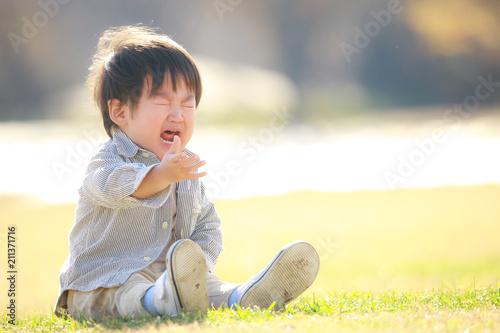 Fotografie, Obraz  泣く子ども