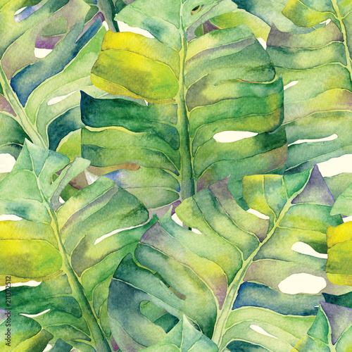 akwarela-tropikalny-wzor