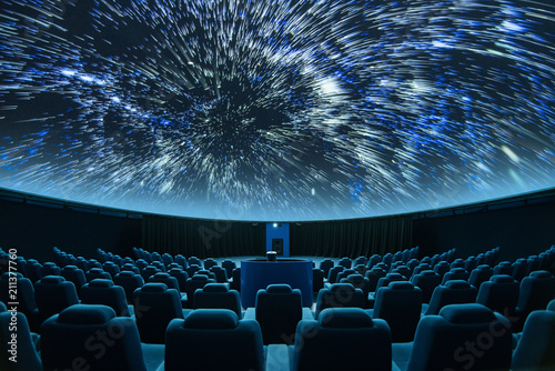 Photo  A spectacular fulldome digital projection at the planetarium
