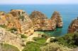 Beautiful cliffs of Ponta da Piedade, Lagos, Algarve region, Portugal