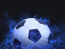Football - Blue Smoke Effect
