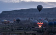 The great tourist attraction of Cappadocia - balloon flight on Sunrise. Cappadocia is known around the world as one of the best places to fly with hot air balloons.