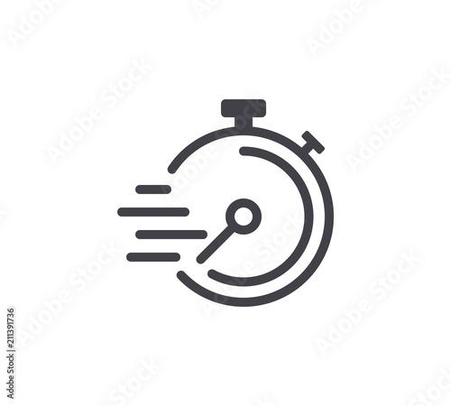 Obraz Speed Timer Line Icon. Editable Stroke. - fototapety do salonu