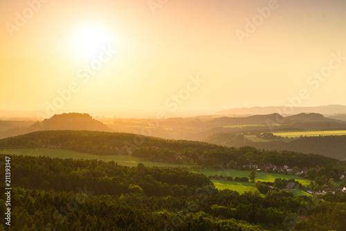 In de dag Toscane Sächsische Schweiz