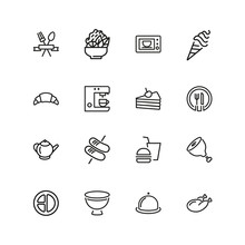 Meal Icons. Set Of  Line Icons...