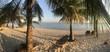 Hammock on white sand beach, Modessa Island, Palawan, Philippines