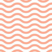 Pattern Chevron Stripe Seamless Design For Wallpaper, Fabric Print And Wrap Paper. Horizontal Pink Stripes.