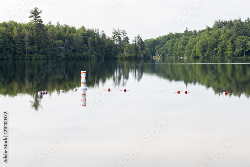 фотографія  Boundary of the swim safety area at Shattuck Beach on Thorndike Pond in Jaffrey, New Hampshire