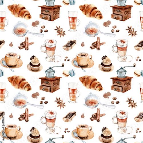 akwarela-rysunek-zestaw-do-kawy-wzor