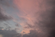 Pink And Gray Clouds