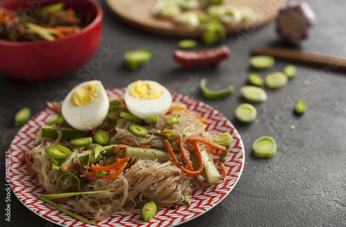 noodles, rice noodles, Asian cuisine, seaweed