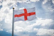Flag Of Saint George/ National England Flag Of Saint George On Sky