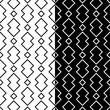 Black and white geometric prints. Set of seamless patterns