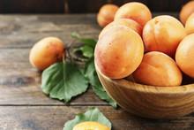 Ripe Apricots Close-up