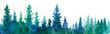 Leinwanddruck Bild -  Forest background. Watercolor illustration