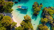 Leinwanddruck Bild - aerial view of the pamunda island, Zanzibar