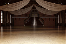 Elegant Modern Ballroom / Wedding Venue, 3d Render.