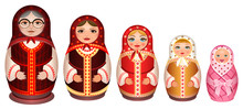 Set Russian Wooden Nesting Dol...