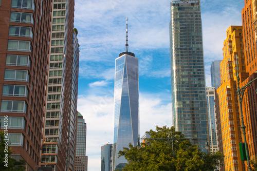 Photo New York City skyscraper in lower Manhattan