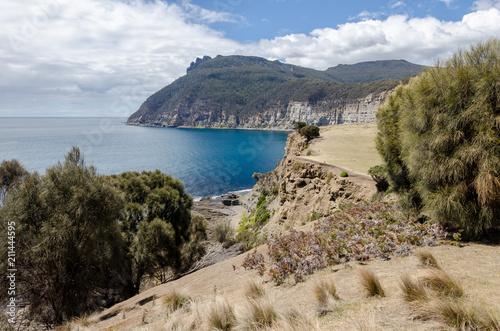 Tuinposter Kust Elevated view of the Fossil Cliffs on Maria Island, Tasmania, Australia.