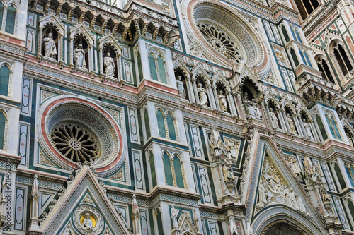 Great exterior Florence Cathedral in Italy  Concept of region