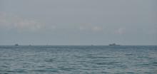 Navy Warships Running On Sea