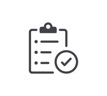Document Approval Line Icon. Editable Stroke.