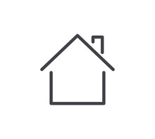 Property Line Icon. Editable Stroke.