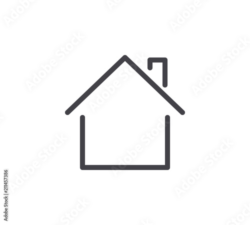 Property Line Icon. Editable Stroke. Fototapet