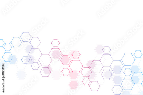 Fotografie, Tablou Geometric background from hexagons