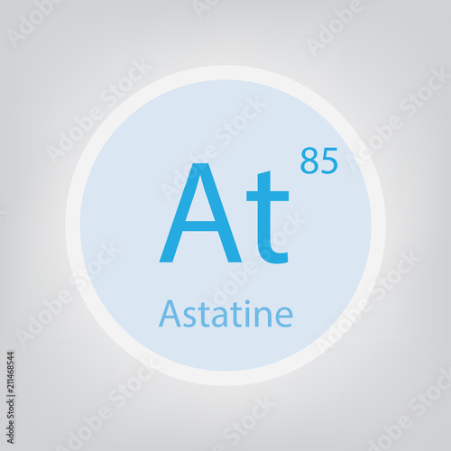 Astatine At chemical element icon- vector illustration Canvas Print