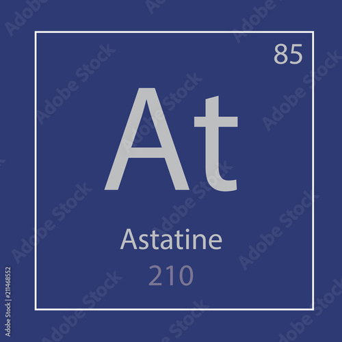 Photo Astatine At chemical element icon- vector illustration