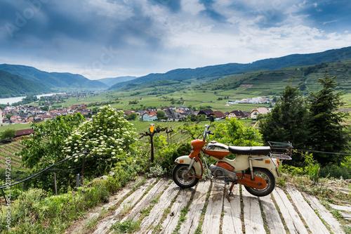 Photo Classic Big Bike with cool background