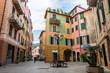 Scorci del centro storico di Varazze, Mar Ligure, Savona, Liguria, Italia