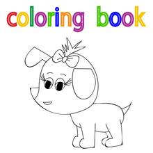 Vector, Book Coloring Dog