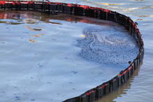Floating Barrier To Dam Oil Pollution