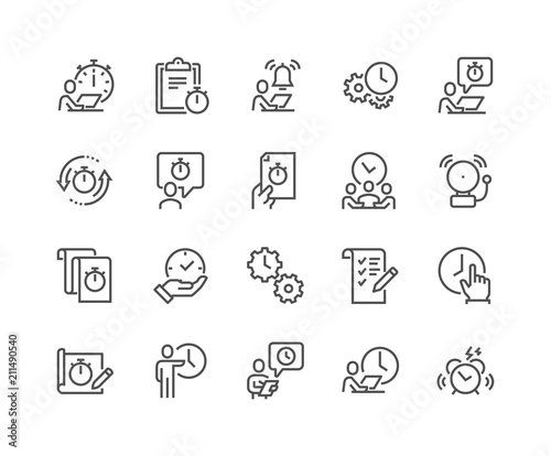 Fotografía Simple Set of Time Management Related Vector Line Icons