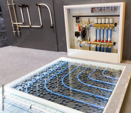 Fotografija Floor heating distributor, exhibition sample