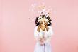 canvas print picture - Confetti throw- celebrate happiness