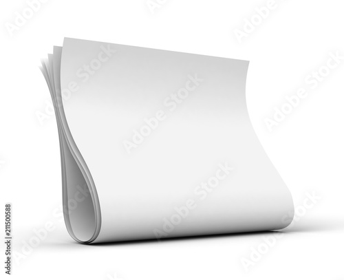 blank newspaper concept 3d illustration Poster Mural XXL